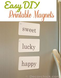Easy DIY Printable Magnets | www.decorchick.com