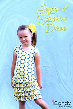 Tutorial and pattern in size 5T for Layers of Sunshine Dress (includes instructions for making your own pattern in a different size)