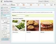 Buscador de #alimentos, #recetas y #menus