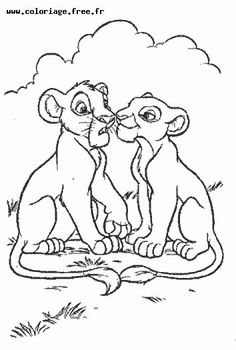 Lion King Coloring Page | Baby K\'s nursery | Pinterest | Lions ...