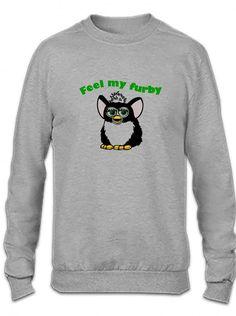 feel my furby Crewneck Sweatshirt