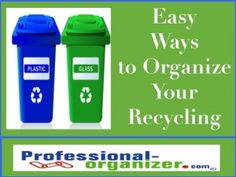 easy ways to  organize your recycling when somethings easy it happen!