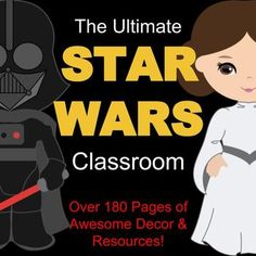 You'll love these Star Wars themed classroom decor and behavior management tools! Everything you need to get your class going, and to get you through the year! Included are: - Behavior Clip Chart (6 different style options included) -Classroom Rules (2 options) -Name Tags: These are great to use on desks in the beginning of the year -Schedule Cards: These are great for