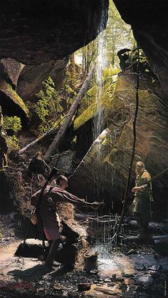 Painting of two century period frontiersmen by Pennsylvania historical artist John Buxton Native American Paintings, Native American Art, American History, Early American, American Indians, Woodland Indians, Into The West, West Art, American Frontier