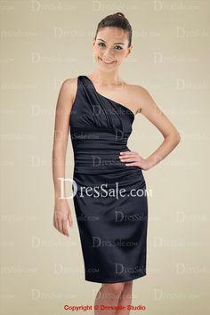 Glamorous Bridesmaid Dress with One Shoulder Neckline