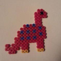 Dino perler beads by Iluvtoonlink on deviantart