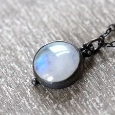 """Light-infused, ethereal, pure of intentions and design."" moonstone necklace"