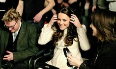 """""""The Duchess of Cambridge watches live filming of a scene during an official visit to the set of Downton Abbey 