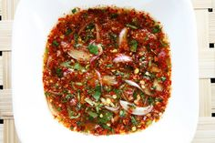 nam jim jaew Thai dried chili dipping sauce..... Goes great with grilled meat