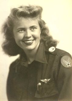 Women in WWII ~ Madge Rutherford Minton was one of the 1st four women in the US to graduate from the Advanced Civilian Pilot Training Program. In 1943, she joined the newly organized Women's Airforce Service Pilots (WASPs) and was trained to ferry Army ai