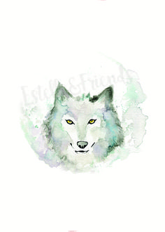 Watercolour Wolf print300GSM acid free paperShipped in a stiff envelope with plastic protective sleeve and additional card to reduce risk of product getting damaged in transit.Available...