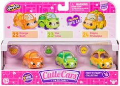 Shopkins Cutie Cars Series 1 Fast N Fruity Collection 3 Pack Lps, Shopkins Cutie Cars, Baby Pink Aesthetic, Moose Toys, Cars Series, Cute Cars, Toys For Girls, Doll Accessories, Fast Cars