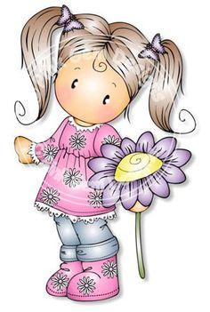 menina e flor