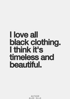 Black dress quotes joy