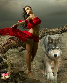 Gothic Fantasy Art, Fantasy Wolf, Beautiful Fantasy Art, Beautiful Wolves, Animals Beautiful, Bear Spirit Animal, Wolf Mates, Wolf Goddess, Wolves And Women