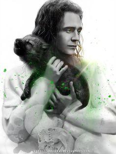 Loki and Fenrir Loki Art, Thor X Loki, Loki Marvel, Marvel Fan, Marvel Heroes, Avengers Art, Marvel Jokes, Marvel Characters, Thomas William Hiddleston