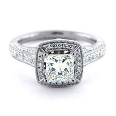 Antique Engagement Rings Square Diamond 1 Ctw 52