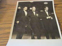The bing Crosby Show Frank Sinatra Dean Martin & Bing Crosby 7 by9 Photo