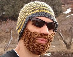 Knit beard.. my Husband wants one of these... even though he has a beard already!