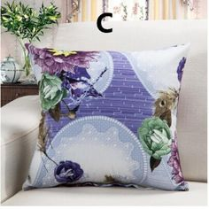 Peacock feather throw pillow for home decoration flowers sofa cushions