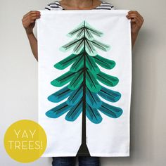 Winter 'Tree' Towel by Our WorkShop