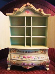 Jill Dianne -  Hand-painted Finding Fairies Baby House Cupboard - Dollhouse Miniatures. $750.00, via Etsy.