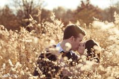 Fall engagement pictures in a field of tall grass - click to view more! wedding photographer, Tennessee photographer, knoxville