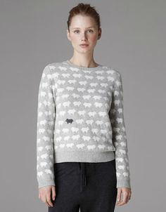 Angora wool jersey with the black sheep among the rest-:)