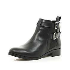 Black buckle strap Chelsea boots - ankle boots - shoes / boots - women