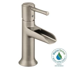 Hansgrohe Talis C Single Hole 1-Handle Mid-Arc Bathroom Faucet in Brushed Nickel