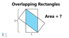 Overlapping Rectangles Puzzle Rectangle Area, Confirmation, Mathematics, Puzzle, Mindfulness, Math, Riddles, Puzzles, Affirmations