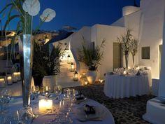 wedding reception at San Nicholas Santorini