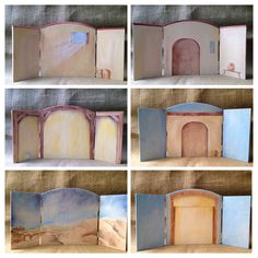 Infancy Narratives Backdrops Find these sold separately at… Christmas Skits, Christmas Party Themes, Christmas Program, Christmas Stage, Good Shepard, The Good Shepherd, Nativity Costumes, Godly Play, Vbs Themes