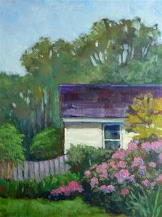 "Daily Paintworks - ""Backyard Garden"" - Original Fine Art for Sale - © Lisa Kyle"