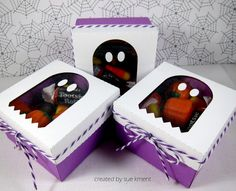 Sue's Stamping Stuff: Final Halloween Treat Holder #31-Ghost Window Box