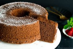 This show-stopping Chocolate Chiffon Cake is super-moist, fluffy, airy, and bouncy all at once! With a rich chocolate flavor, this chiffon cake recipe will s. Easy Japanese Recipes, Japanese Food, Asian Recipes, Japanese Desserts, Japanese Dishes, Asian Desserts, Chocolate Chiffon Cake, Pan Sizes, Biscuits