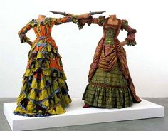 how to blow-up two heads at once - yinka shonibare, 2006 [http://yinkashonibarembe.com/artwork/]