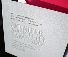 Letterpress Wedding Invitations | Irving Design | Bella Figura Letterpress