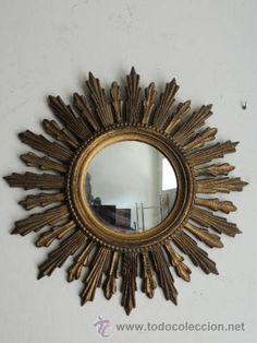 vendo espejo de pared tipo sol vintage posiblemente