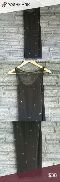 BCBG LBD with flower details size XS NWOT BCBG LBD with flower details size XS NWOT This sheath dress is feminine and flirty. Mesh front features a neckline of beaded flowers, then more flowers cascade down the front and back. The straps also feature flower details with one thick and one thin strap. Dress is lined and measures approximately 40 inches shoulder to bottom hem, 14 inches armpit to armpit. If I could fit into it I'd wear this dress forever. Dress is 80% polyester, 20% spandex…