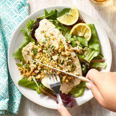 Diabetic meals 459015387024670142 - Hazelnut-Parsley Roast Tilapia Source by Diabetic Meal Plan, Diabetic Recipes, Diet Recipes, Diabetic Desserts, Health Recipes, Dessert Recipes, Tilapia Recipes, Seafood Recipes, Breakfast