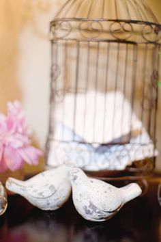 Bird Cage Centerpieces with Love Notes