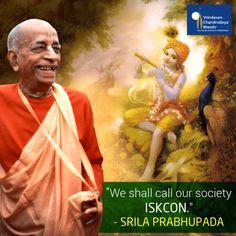 His Divine Grace Swami Prabhupada envisioned #ISKCON for spreading #LordKrishna's teachings around the world.