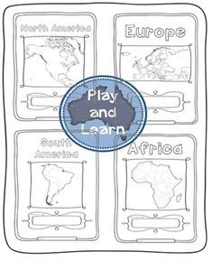 Continents Bundle - Maps and Flags for every country of the world Continents And Countries, Countries Europe, Countries Of The World, 5 Oceans, Oceans Of The World, Hello Font, Free Maps, Antarctica, Teacher Newsletter