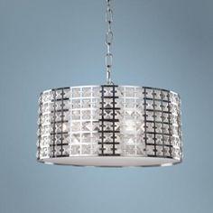 "Artcraft Coventry14 3/4"" Wide Chrome Pendant Light"