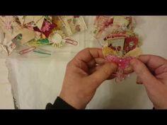 Embellishments for a Junk Journal - Scrapbooking Journal Paper, Journal Cards, Junk Journal, Journal Ideas, Shabby Chic Embellishments, Scrapbook Embellishments, Art And Craft Videos, Vintage Crafts, Flower Tutorial