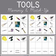 Free Tools Memory and Match-up from 1+1+1=1 Print Awareness, Nick And Nora, Tot School, Up Game, Book Recommendations, Montessori, Free Printables, Card Stock, Preschool