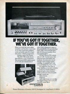 1980 PIONEER Centrex Stereo System KH 7766 Original Vintage Print Paper AD | eBay