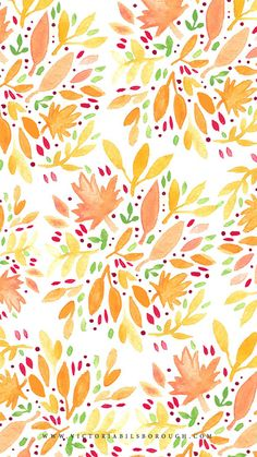 October Floral via www.victoriabilsborough.com ★ Find more seasonal autumn wallpapers for your #iPhone + #Android @prettywallpaper