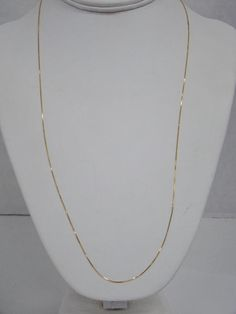 14k White Gold .95mm Box Chain Necklace